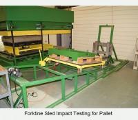 Forktine Sled Impact Testing for Pallet