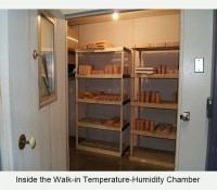 Inside the Walk-in Temperature-Humidity Chamber